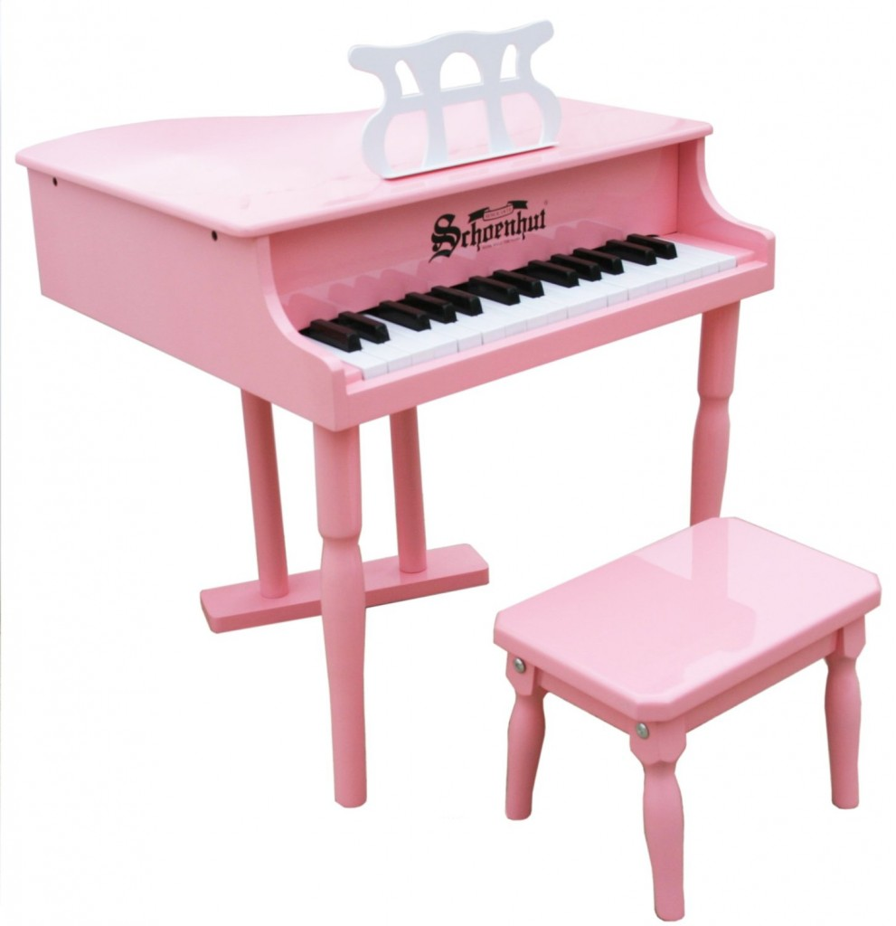 pink baby grand piano