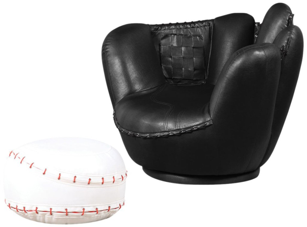 cool baseball glove shaped chairs for boys