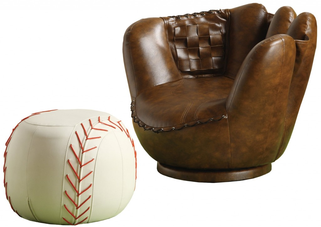 Merveilleux Baseball Glove Chair And Ottoman