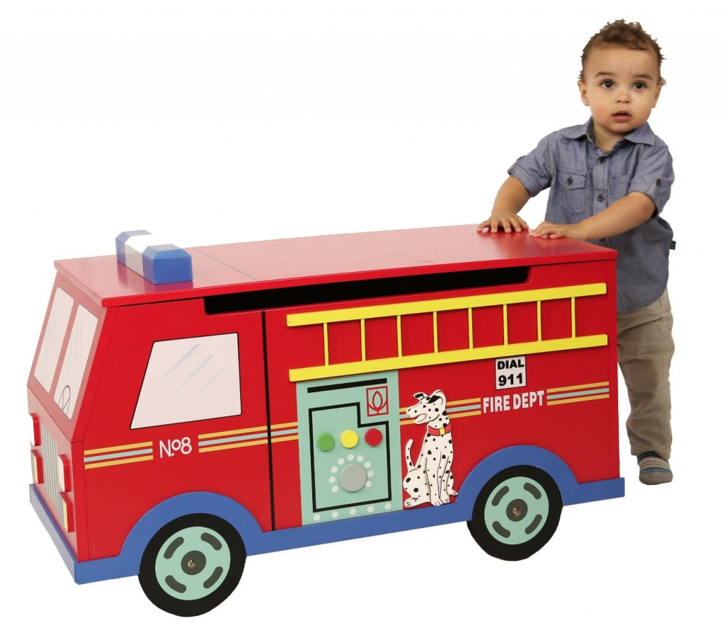 Guidecraft Fire Truck Toy Box Toy Storage at Hayneedle