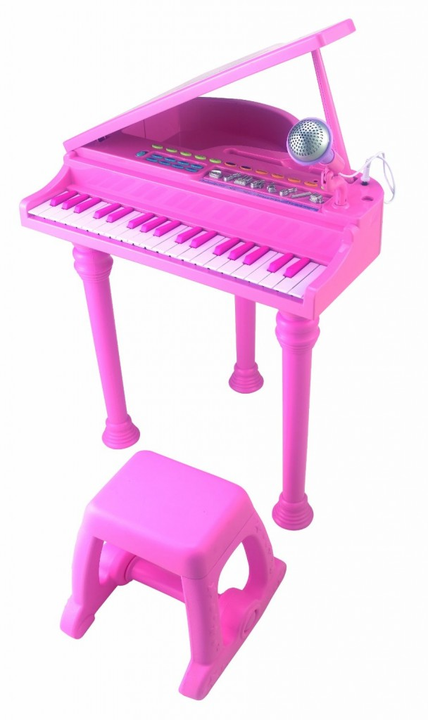 pink electric grand toy piano
