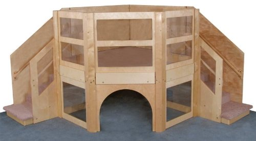 fancy indoor wood climber for toddlers