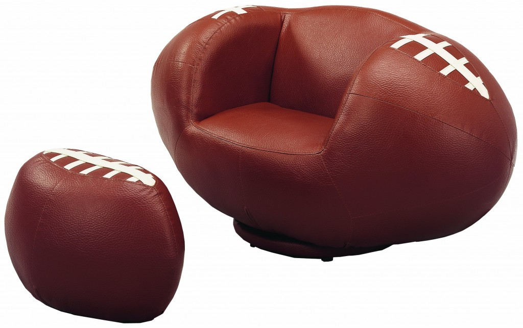 best football shape chairs
