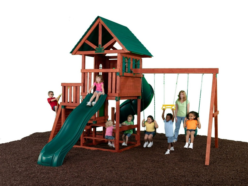 outdoor swing set for kids age 4