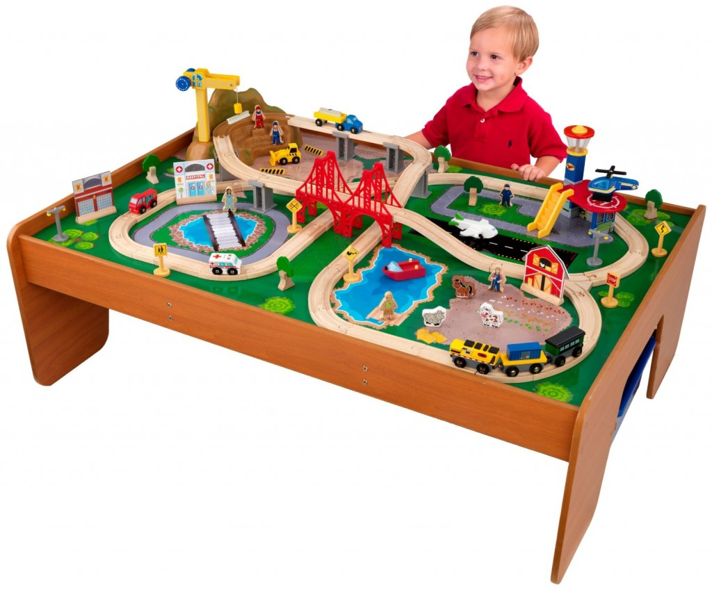 Train Set and Table for Kids