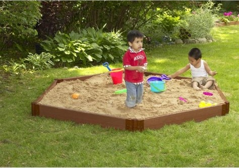 large hexagon sandbox for kids