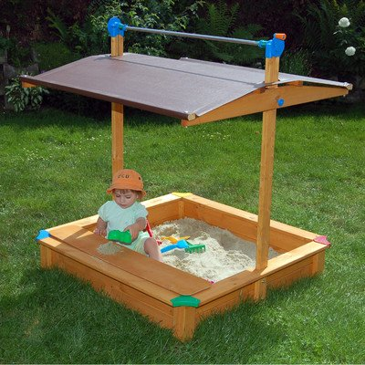 Rectangular Sandbox with Cover
