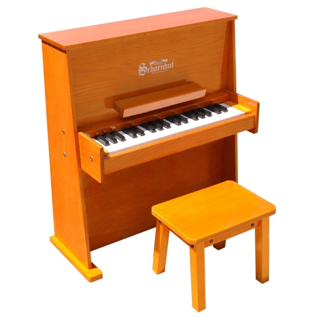 Schoenhut Day Care Durable Spinet Piano, Oak