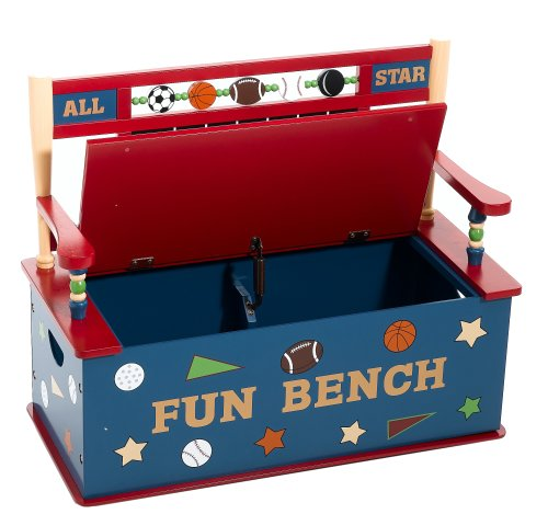 Sports Toy Box Bench