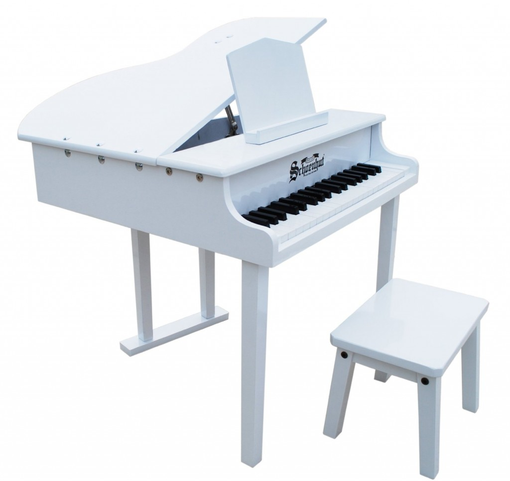 37 Key Concert Grand Child Piano White