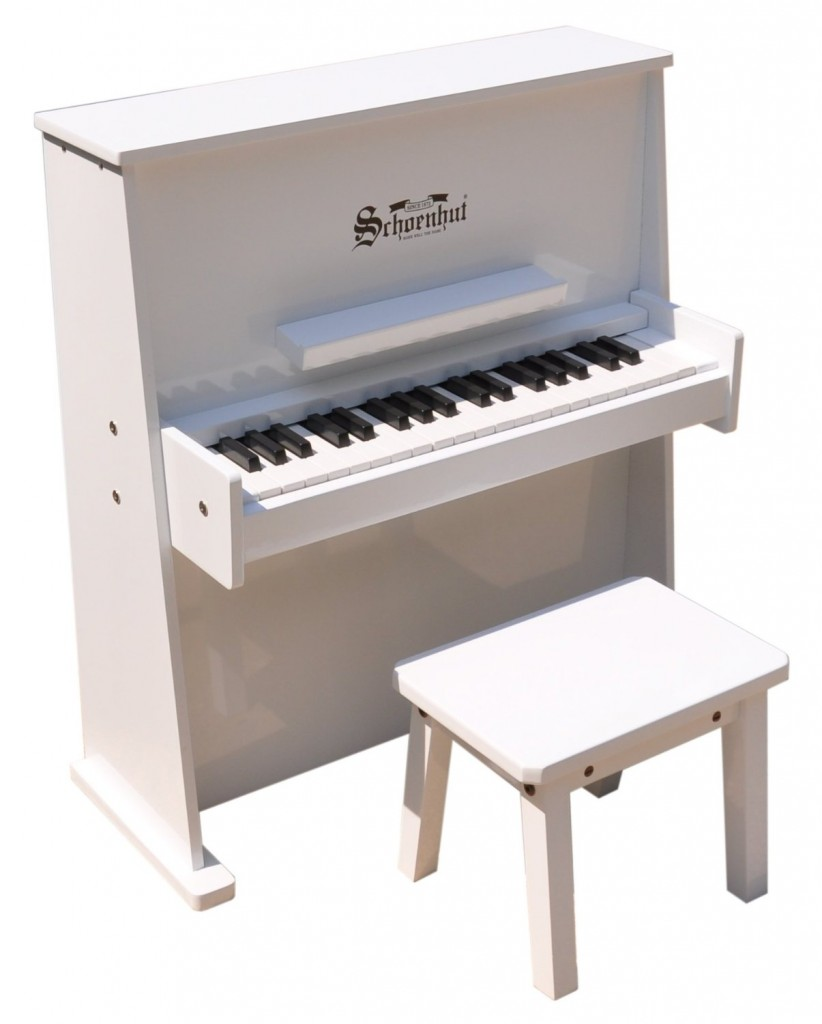 white piano for kids