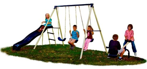 best swing set for small backyard