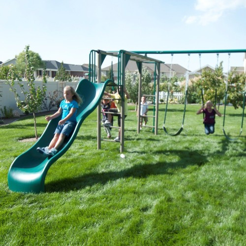 best swing set with slide