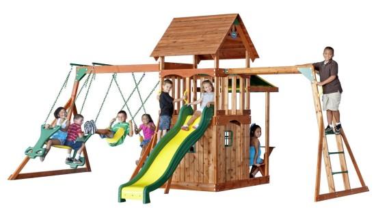 best wooden swing sets for kids