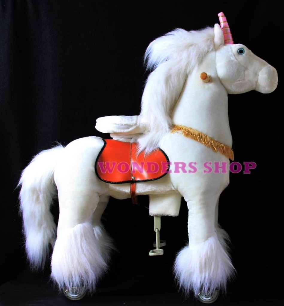 Cute Ride on Plush Unicorn