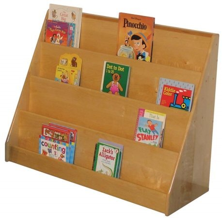wooden book display