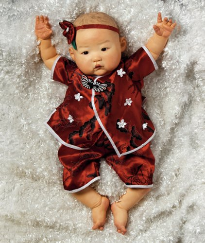 Realistic Asian Baby Doll