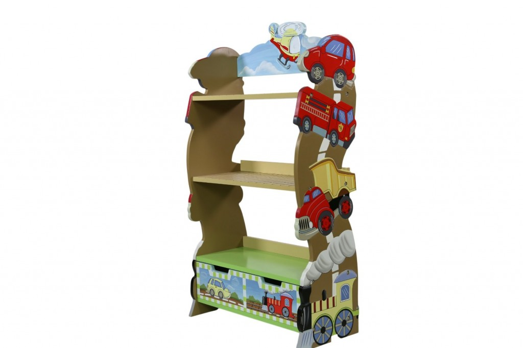 fun bookshelf for boys
