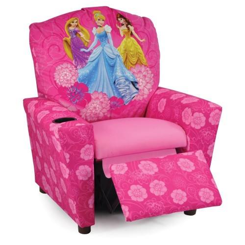 Cute Disney Princesses Kids Recliner Pink