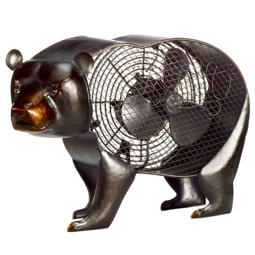 black bear figurine fan