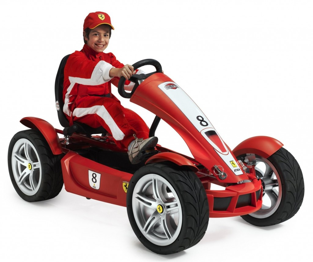 Ferrari pedal go kart for kids