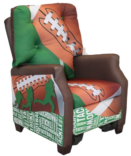 Kids Football 50 Yard Line Theme Boys Recliner