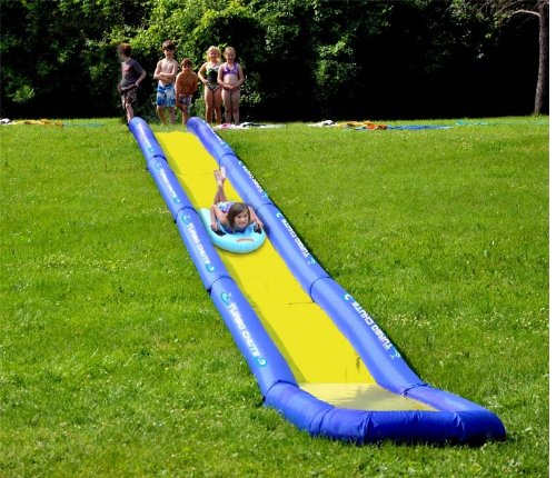 ultra fun inflatable turbo chute water slide for the backyard