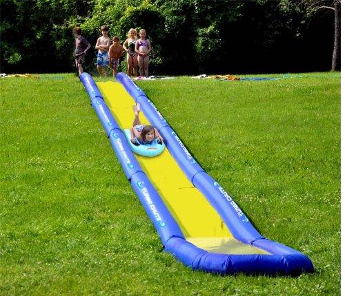 Inflatable Turbo Chute Water Slide Backyard