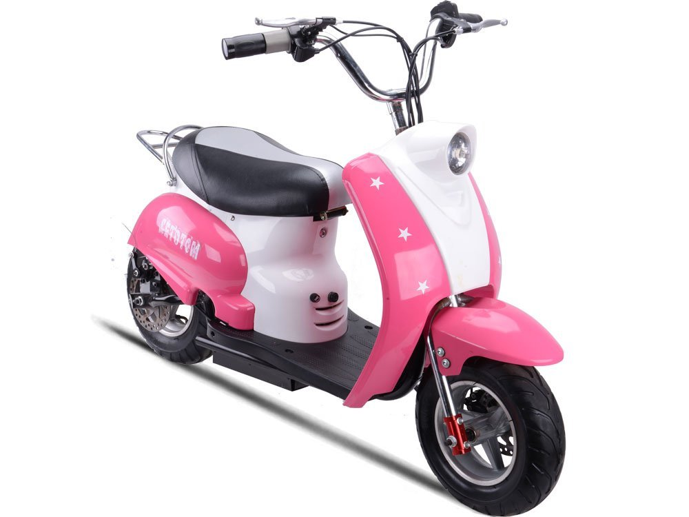 pink and white scooter for girls