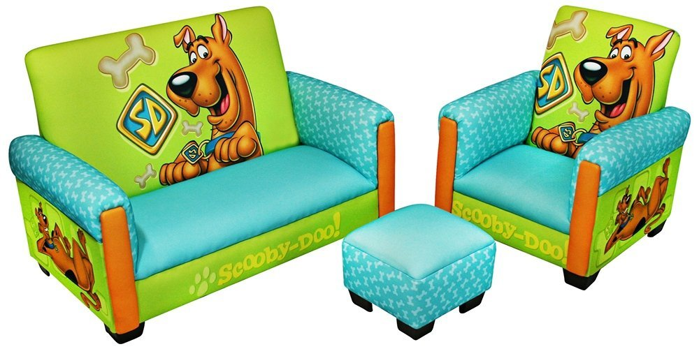 Scooby Doo Deluxe Toddler Living Room Set. Fun Scooby Doo Bedroom Furniture and Decor for Kids