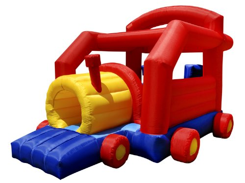 cute train shaped inflatable toddler bouncing house