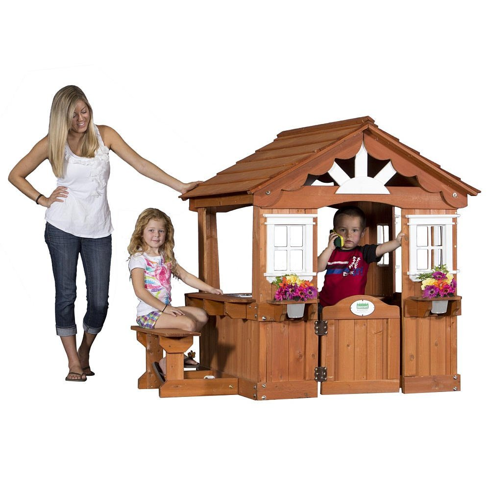 cute wooden playhouse for kids