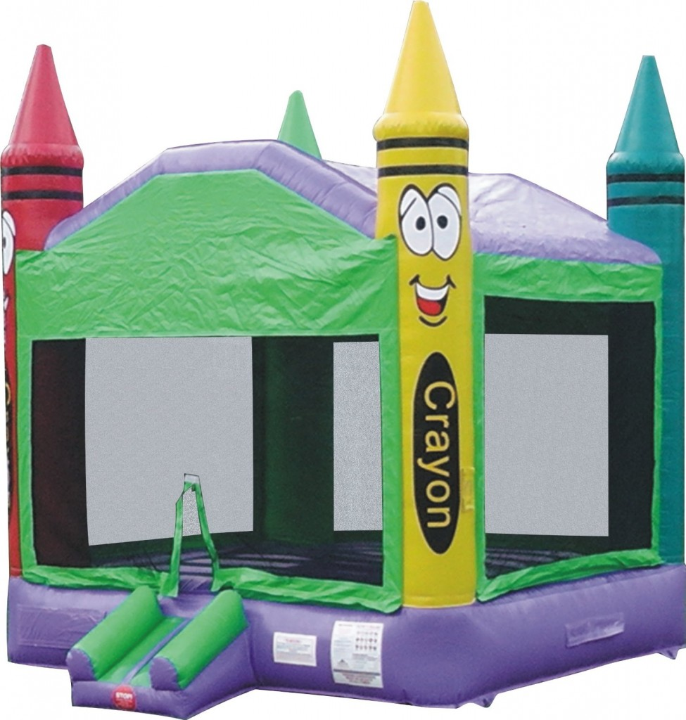 Bounce House Inflatable Crayon Castle Moonwalk