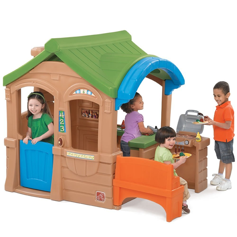 The Little Tikes Town Playhouse makes a perfect and fun space for your kid right at home. It will not only entertain your child, but also promote his/her motor and sensory skills.