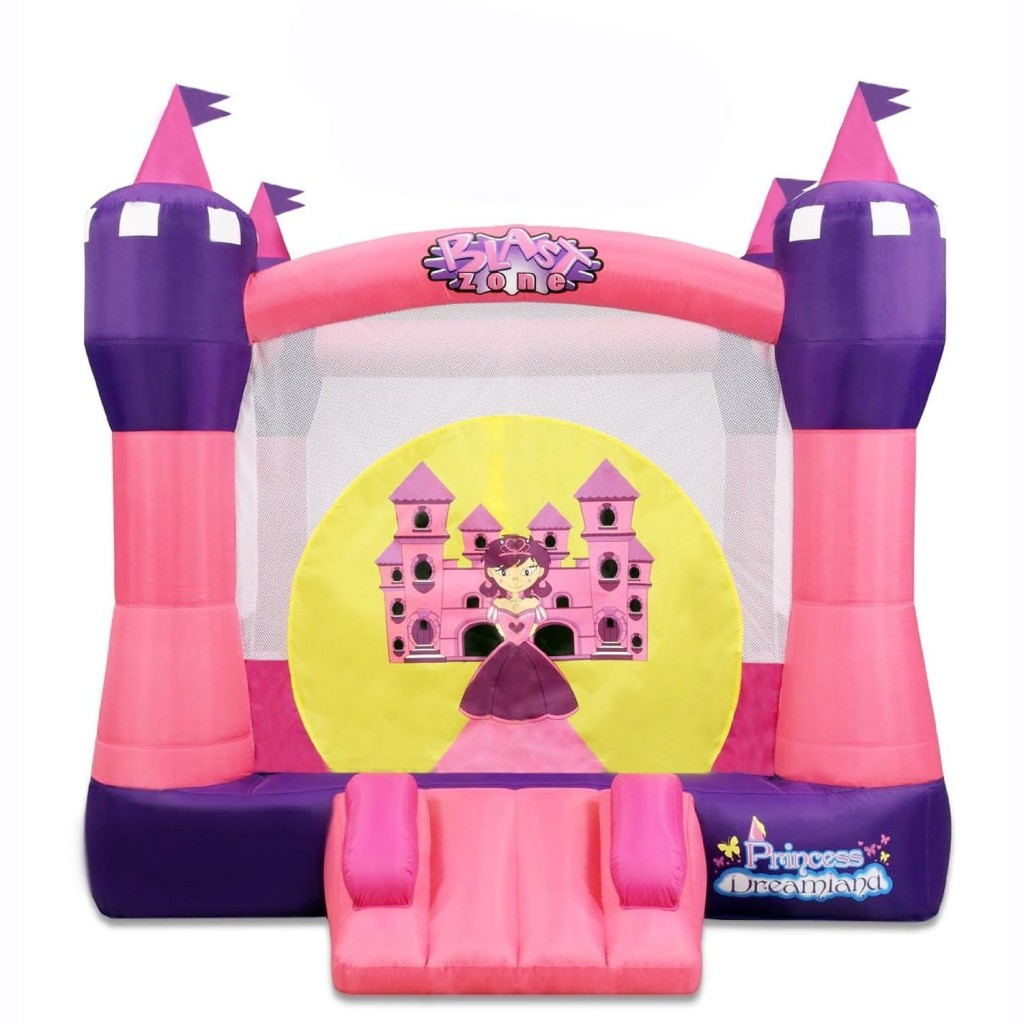 cute pink castle bouncer for girls