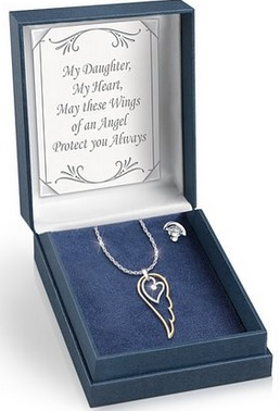 angel wing daughter necklace