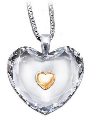 beautiful heart shaped crystal daughter necklace