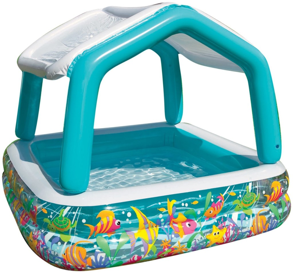 Inflatable Sun Shade Pool for Toddlers