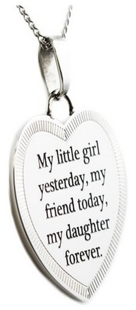 My Little Girl Yesterday My Friend Today My Daughter Forever - Daughter Necklace