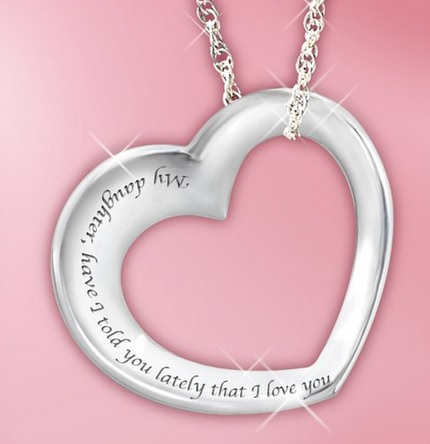heart shaped daughter necklace