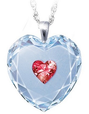 Crystal Heart Pendant Necklace For Daughter