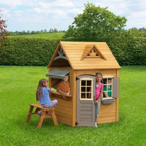 cute wooden playhouses for kids