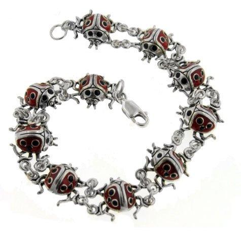 Ladybug Link Bracelet