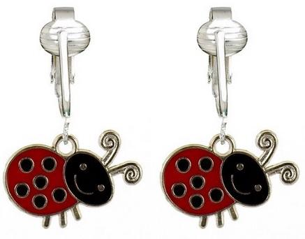 cute Ladybug Clip On Earrings