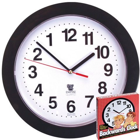 Funny Backward Clock