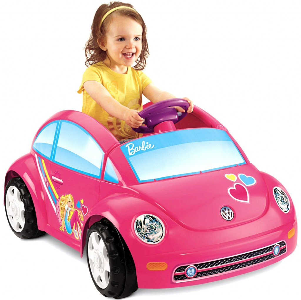 cute pink Barbie car for toddler girls