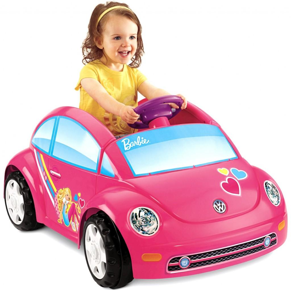 cute pink Barbie car for toddler girls