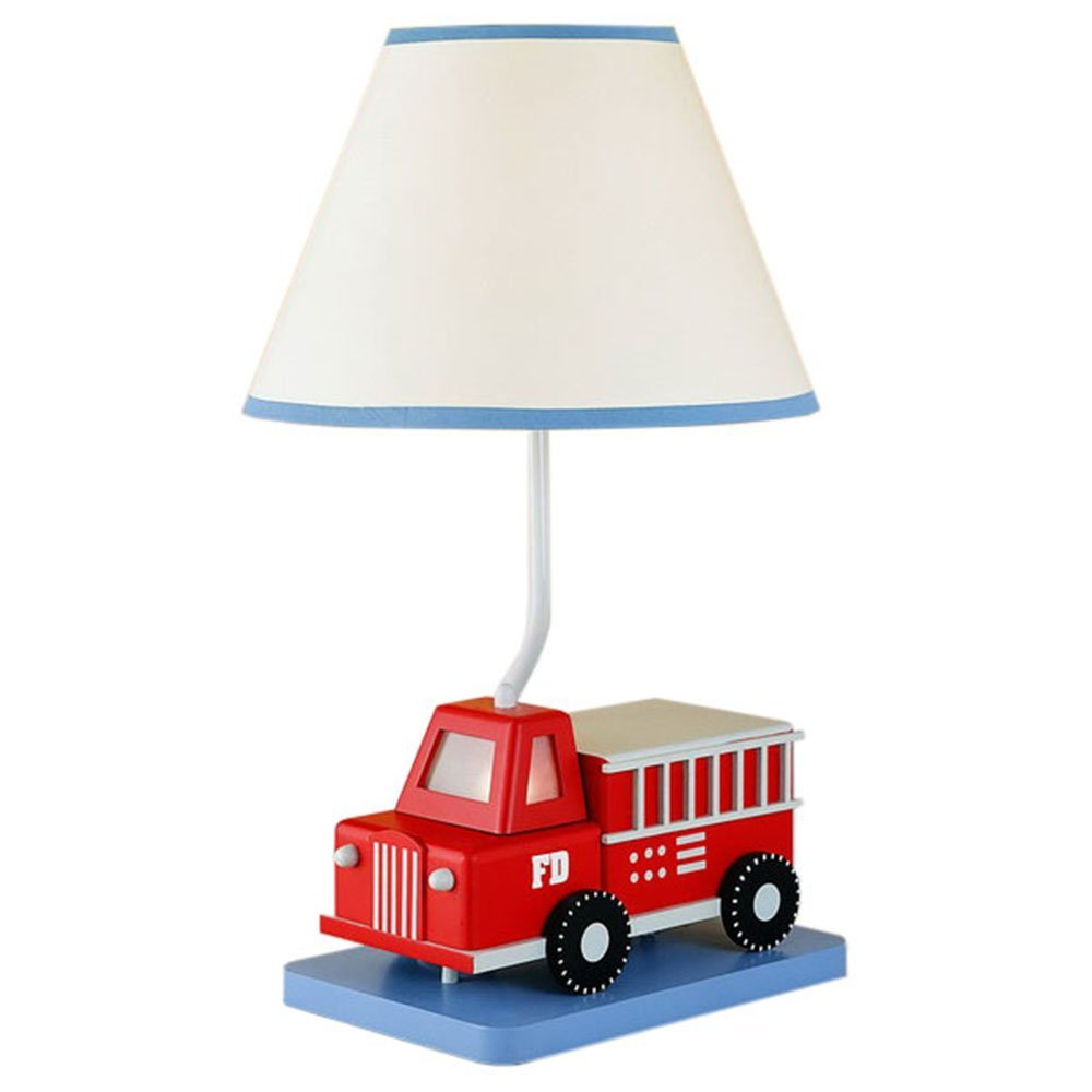 cute fire truck table lamp