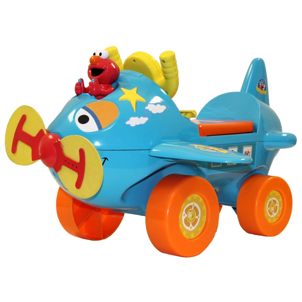 cute Elmo riding plane