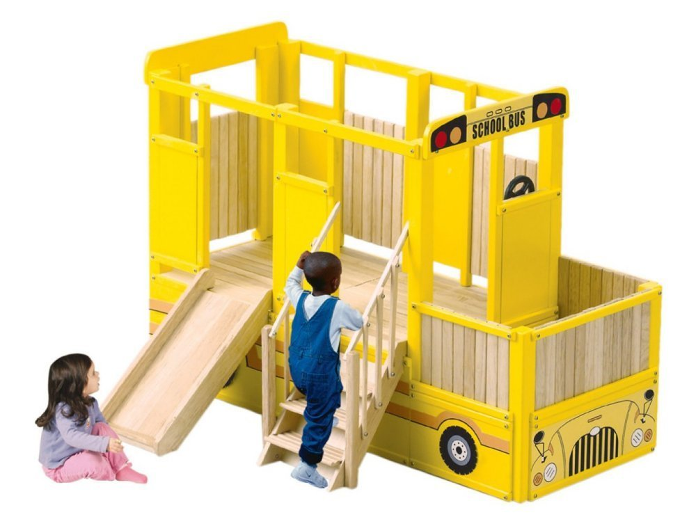 Guidecraft School Bus Playtime Loft